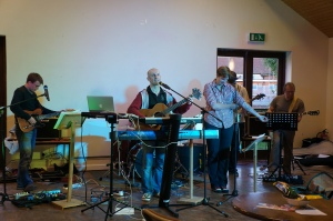 Tony and the band from St Saviour's