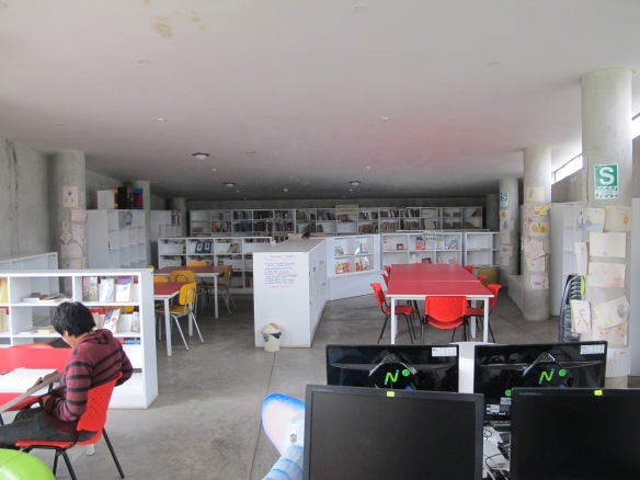 The library in San Juan de Lurigancho serving over  one million people