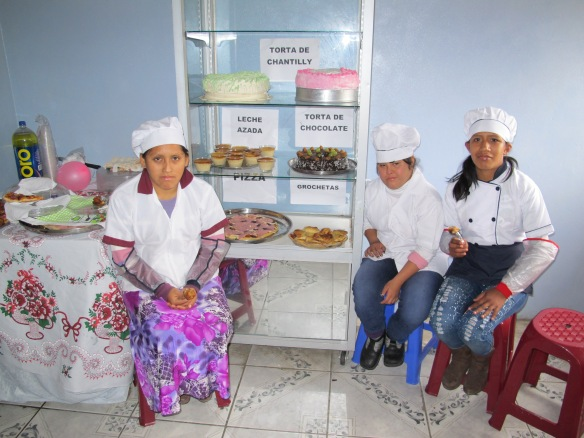 The fabulous bakers and some of their produce, which tasted great.