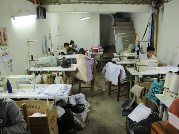 Sheila and family's factory where a dedicated team produce shirts and blouses.