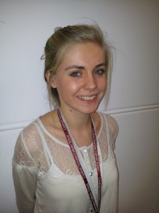 Eleanor Margetts, CAFOD Gap Year Volunteer in Cardinal Newman Catholic School, Hove