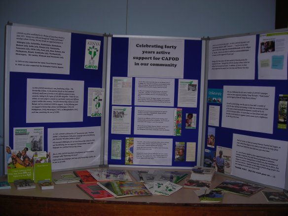 CAFOD 40 years display