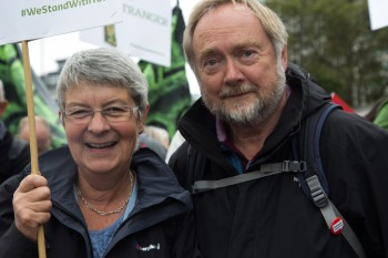 Two of our wonderful volunteers, Jackie and Brian