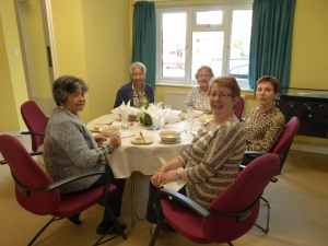Camberley and Bagshot parishioners enjoying the soup lunch.