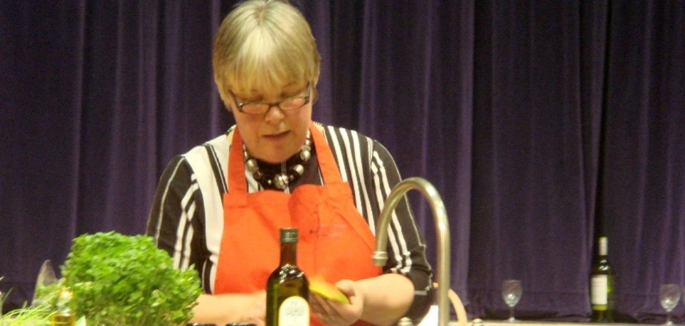 Rosemary Moon demonstrating top class cookery