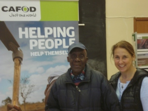 Alan with Mary our CAFOD parish volunteer.
