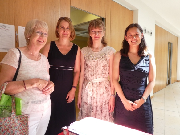 Elizabeth, Ruth, Agata and Lin
