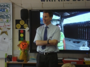 Jeremy Hunt talks to Year 6