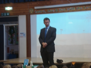 Jeremy Hunt addresses the school