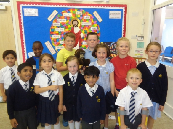 St Joseph's Children reflected on the plight of refugees with the Lampedusa Cross