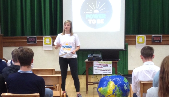 CAFOD's Sarah Burrows inspiring young leaders
