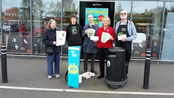 Godalming campaigners challenge Sainsbury's over threat to Fairtrade tea