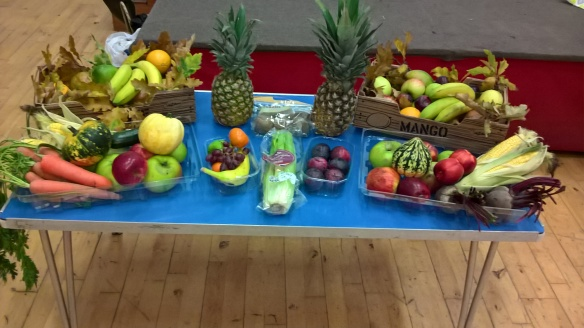A Harvest Offering. Food donated was sold to help fund work in Peru.