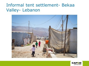 The Bekaa Valley Refugee Camp