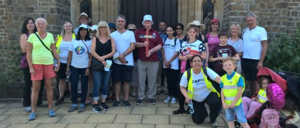 Some members of the St Anne's Parish walkers from Chertsey