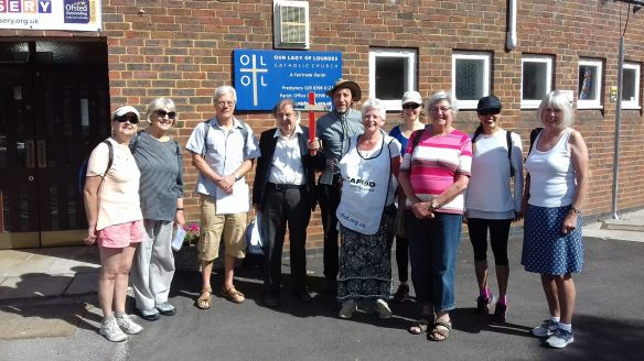 Our Lady of Lourdes Parish in Thames Ditton set off on their Share the Journey walk.