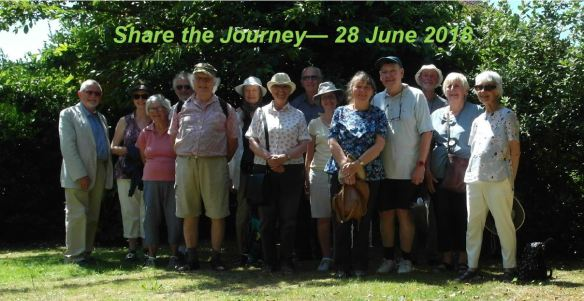 The ecumenical group at the end of their walk