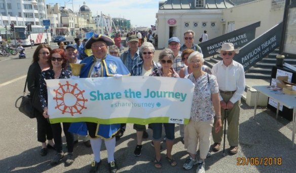 Part of the gathered group for the Worthing Prom Walk