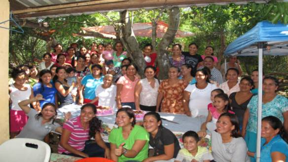 Some of the Community in Puentecitos, El Salvador