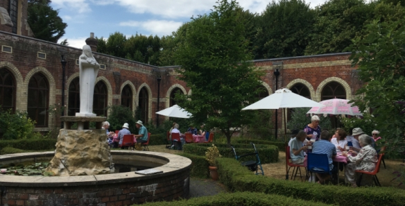 The beautiful setting of the Cloister Garden